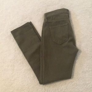 Gap 24 olive green distressed girlfriend jeans